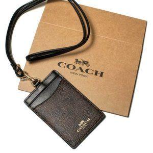 Coach Signature Badge Lanyard Id/Keys Holder